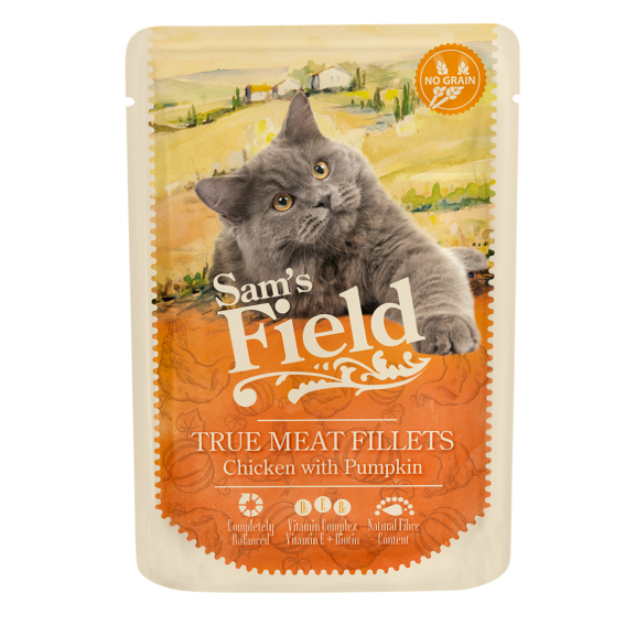Sam's Field Cat Pouch - Chicken with Pumpkin
