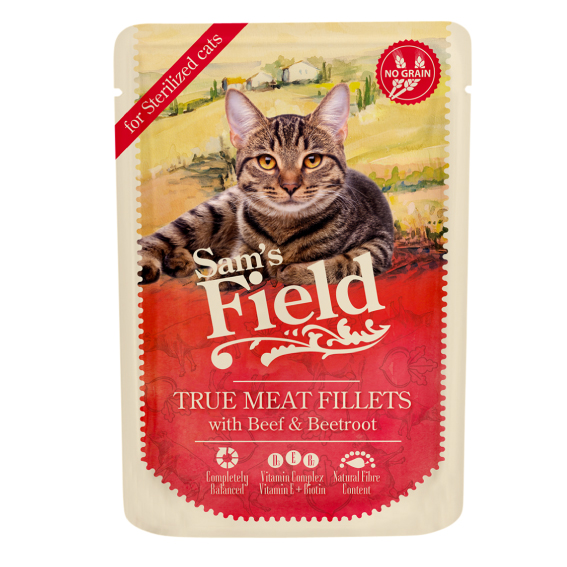 Sam's Field Pouch Cat - Beef Beetroot