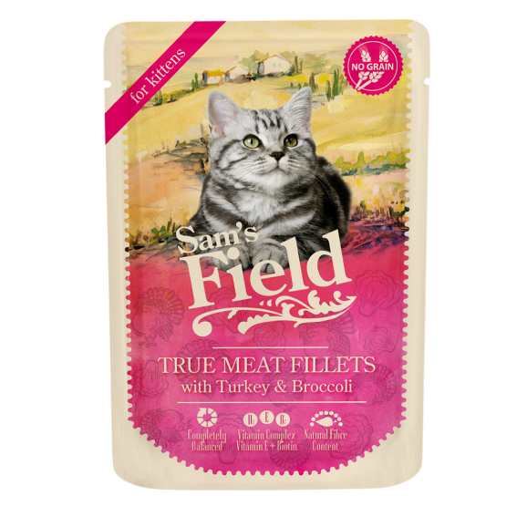 Sam's Field Pouch Kitten - Kalkoen en Broccoli