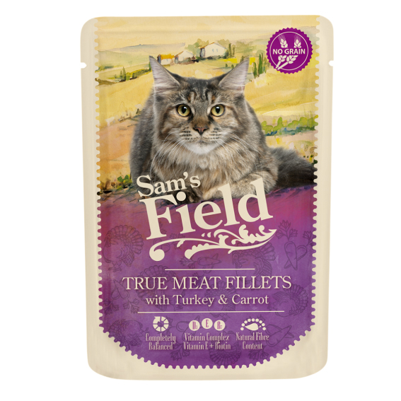 Sam's Field Pouch Cat - Turkey & Carrot